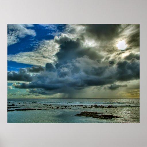 Chubasco de la costa de Hawaii Kona Impresiones
