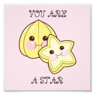 "Chubbi Starfruit ""You Are a Star"" Photo Print"