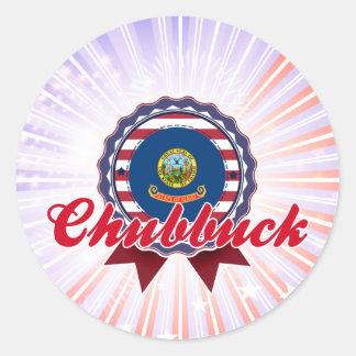 Chubbuck, ID Round Sticker