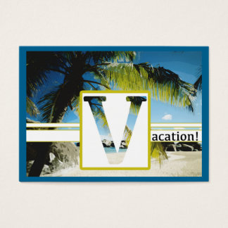 """Chubby, 3.5"""" x 2.5"""", 100 pack VACATION Business Card"""