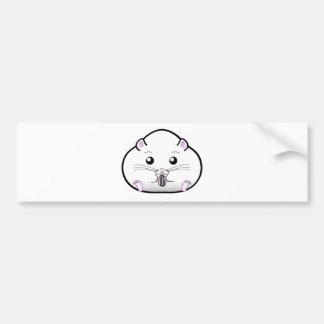 Chubby All White Russian Dwarf Hamster Bumper Sticker
