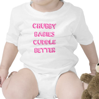 Chubby Babies Cuddle Better - Pink Bodysuit