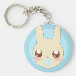 Chubby Baby Bunny Keychain