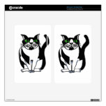 Chubby Black and White Cat Kindle Fire Skins