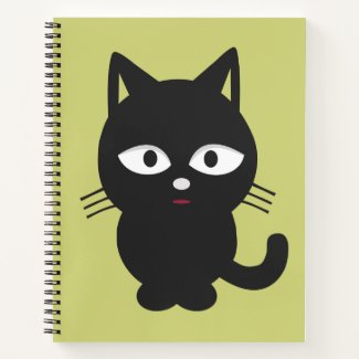 Chubby Black Kitten Notebook