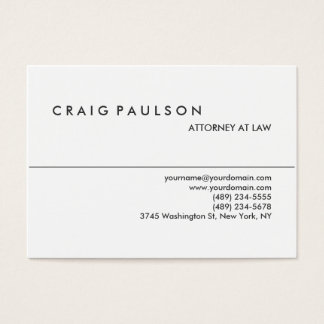 Chubby Black White Attorney at Law Business Card