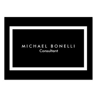 Chubby Black White Border Minimalist Business Card