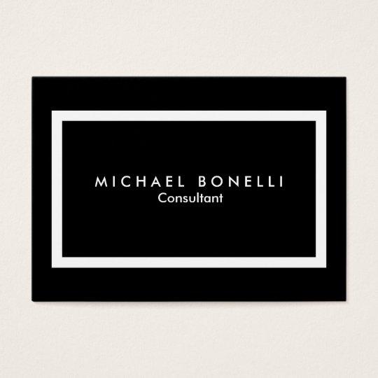 Chubby black white border minimalist business card zazzle chubby black white border minimalist business card reheart Gallery