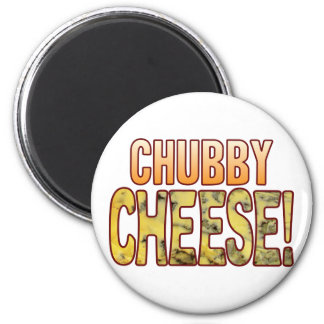 Chubby Blue Cheese 2 Inch Round Magnet