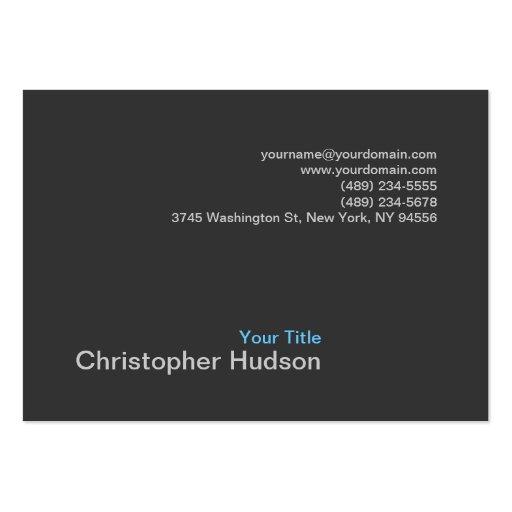 Chubby Blue Gray Photography Business Card