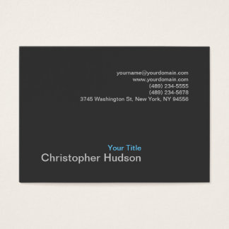 Chubby Blue Gray Photography Business Card