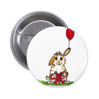 Chubby bunny birthday 'Molly' 2 Inch Round Button
