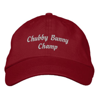 Chubby Bunny Champ Cap - Red Embroidered Hat