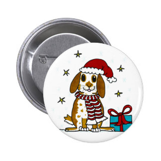 Chubby bunny Christmas design 2 Inch Round Button