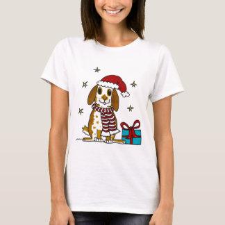 Chubby bunny Christmas design T-Shirt
