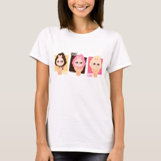 chubby bunny ice cream-neopolitan T-Shirt