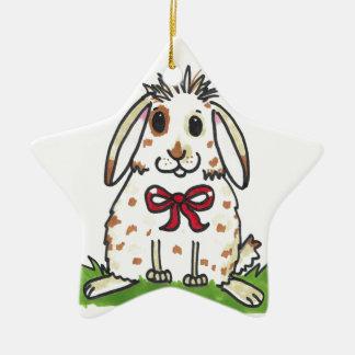 Chubby bunny 'Mini' Design Ceramic Ornament