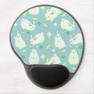 Chubby Bunny Pattern Gel Mouse Mats