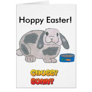 Chubby Bunny's Hoppy Easter Card