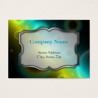 Chubby Business Card Bubbles Abstract Background