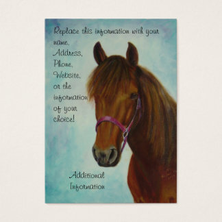 Chubby Business Card, Chichi, a Bay Paso Fino Mare Business Card