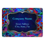 Chubby Business Card Floral Abstract Stained Glass
