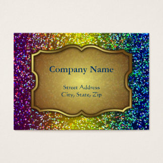 Chubby Business Card Glitter Graphic Background