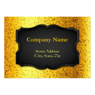 Chubby Business Card Glitter Graphic Gold