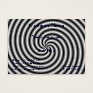 Chubby Business Card  The Swirl in Black and White