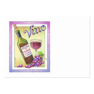 CHUBBY BUSINESS CARD, VINO!  You Had Me at MERLOT!