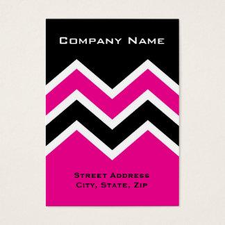 Chubby Business Card Zig Zag Chevron Pattern