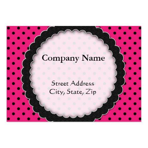 Chubby card Hot Pink Polka Dot Business Card