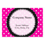 Chubby card Hot Pink Polka Dot Business Cards