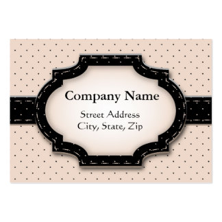 Chubby card Polka Dot and Flowers Large Business Cards (Pack Of 100)