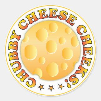 Chubby Cheese Cheeks R Stickers