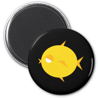 Chubby Chick Lips 2 Inch Round Magnet