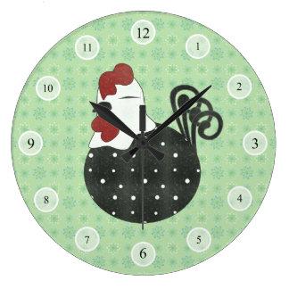 Chubby Chicken Large Clock