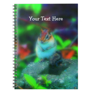 Chubby Chipmunk Nature Fantasy Art Notebook