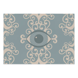 Chubby Damask Eyeball Psychic Reader Cards Large Business Card