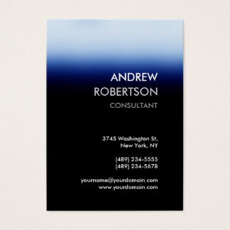 Chubby Dark Blue Black Manager Business Card