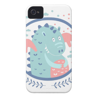 Chubby Dragon Fairy Tale Character Case-Mate iPhone 4 Case