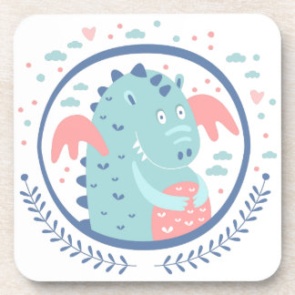 Chubby Dragon Fairy Tale Character Coaster