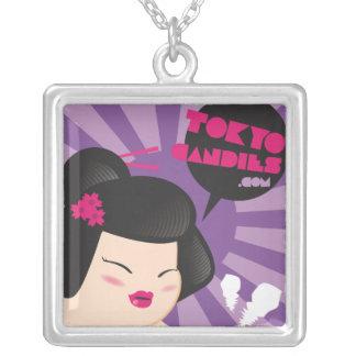 Chubby geisha portrait pendants