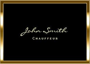 Chauffeur business cards templates zazzle chubby gold border chauffeur business card colourmoves