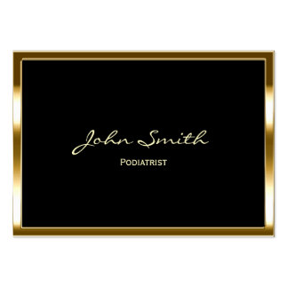 Chubby Gold Border Podiatrist Business Card