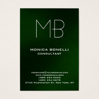 Chubby green background modern business card