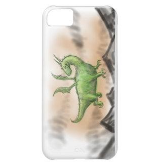 Chubby green cartoon dragon iPhone 5C cover