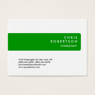 Chubby Green Stripe White Background Business Card