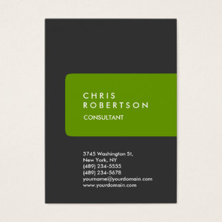 Chubby Grey Green Stripe Business Card