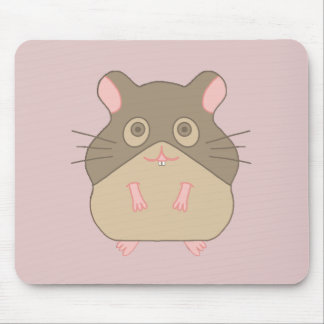 Chubby Hamster Mouse Pad